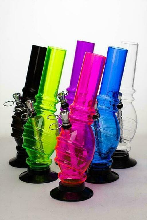 """ADD ON - 10"""" ACRYLIC WATER PIPE GRIP STYLE"""