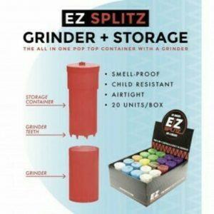 ADD ON - EZ SPLITZ CAP & CRUSHER GRINDER (SIMILAR TO MEDI-TAINER)