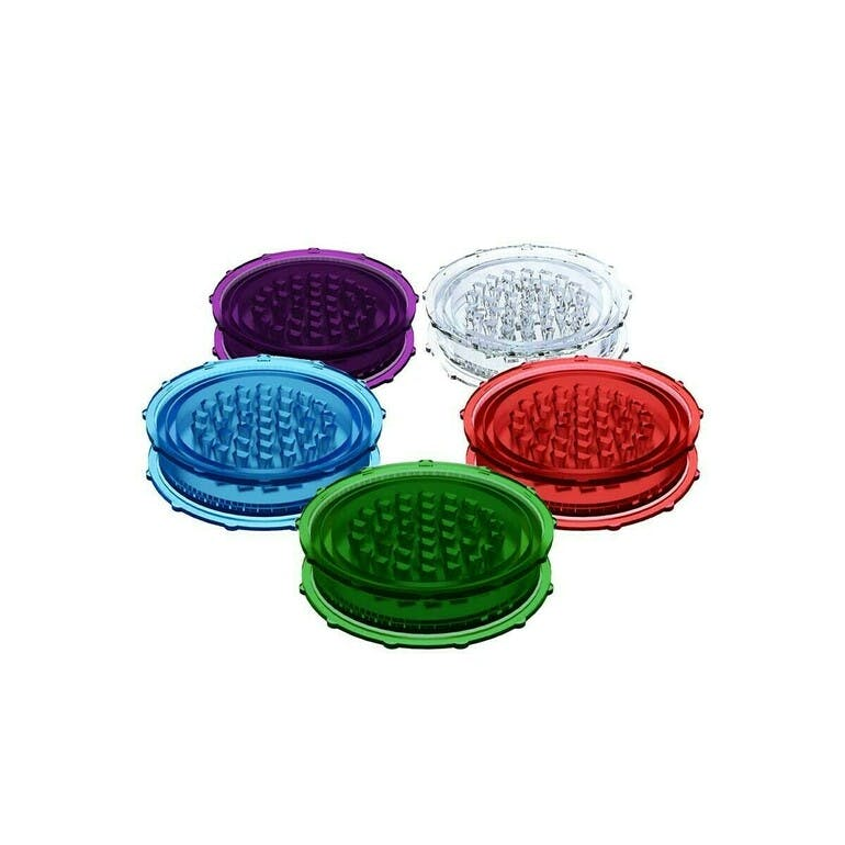 """ADD ON - 3"""" 2 PIECE PLASTIC GRINDERS (VARIOUS COLOURS)"""